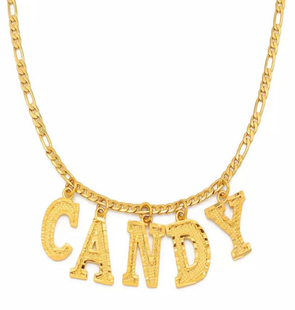"""Dangle"" Name Necklace"