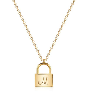 Locket Initial Necklace