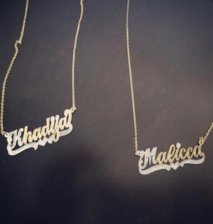 Single Plated Name Necklace