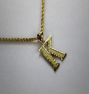 10k Solid Gold Initial Pendant