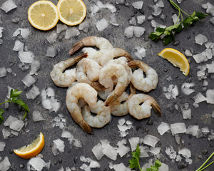 Jumbo Peeled King Prawns - Tail On