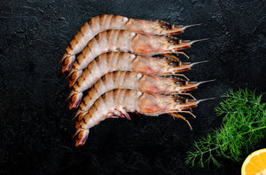 Whole Jumbo Black Tiger Prawns