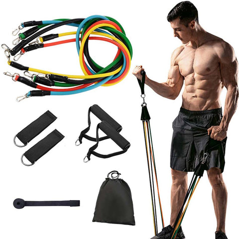 11 Piece Resistance Band Full Body Workout Set