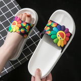 Colorful Sunflower Sandals