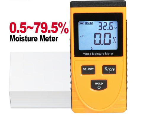 Digital Pinless Wood Moisture and Hygrometer Handheld Reader