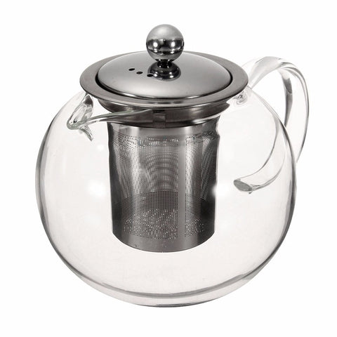 Heat Resistant Glass Infusion Tea Pot