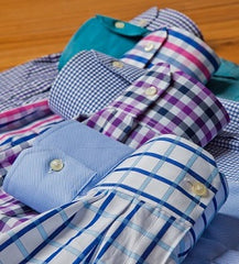 Blue plaid button down shirt _ William Mahoney Brand _ tall and fit mens athletic fit _ tall style _ tall sizes