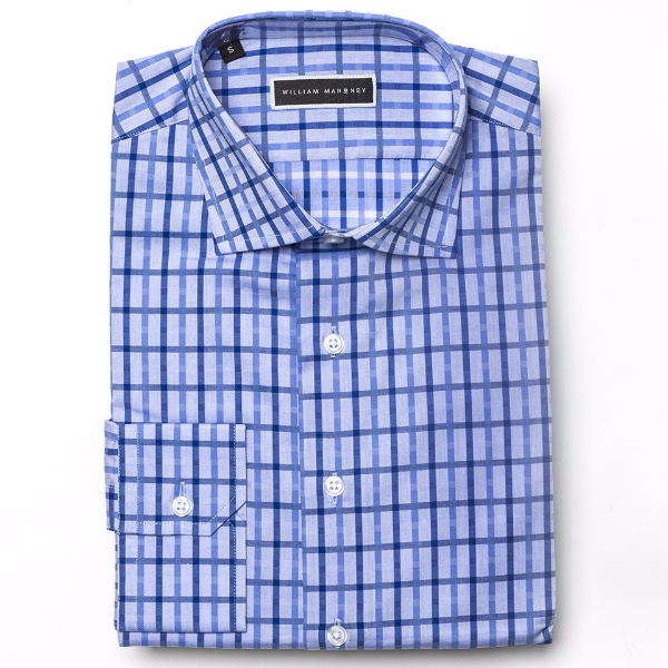 1. Blue Plaid Button Down Shirt