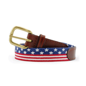 Old Glory Needlepoint Belt