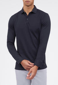 Petko Long Sleeve 3-Button Polo