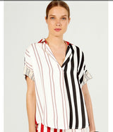 Monica Red/White/Black Stripe