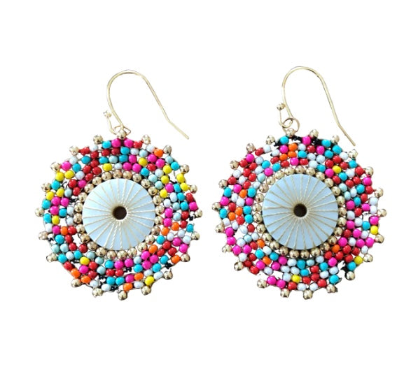 Multi-Colored Beaded Earrings