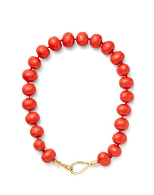 Coral Pebble Necklace
