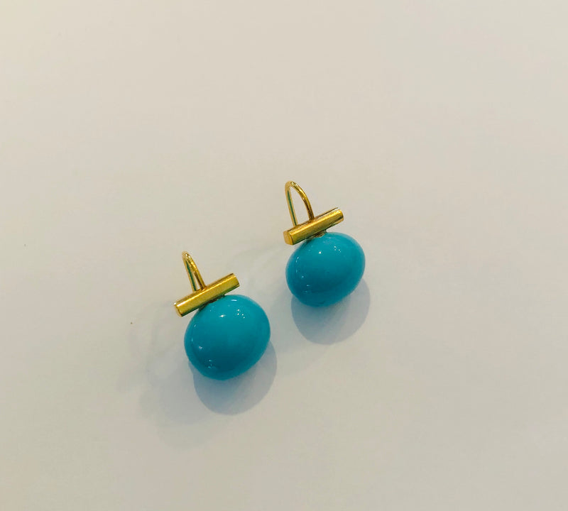 Baby Pebble Turquoise Earrings