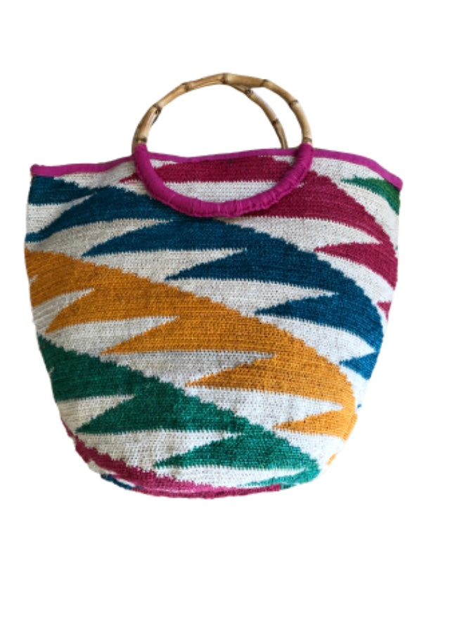 Camila Bamboo Multi-Color Large Tote