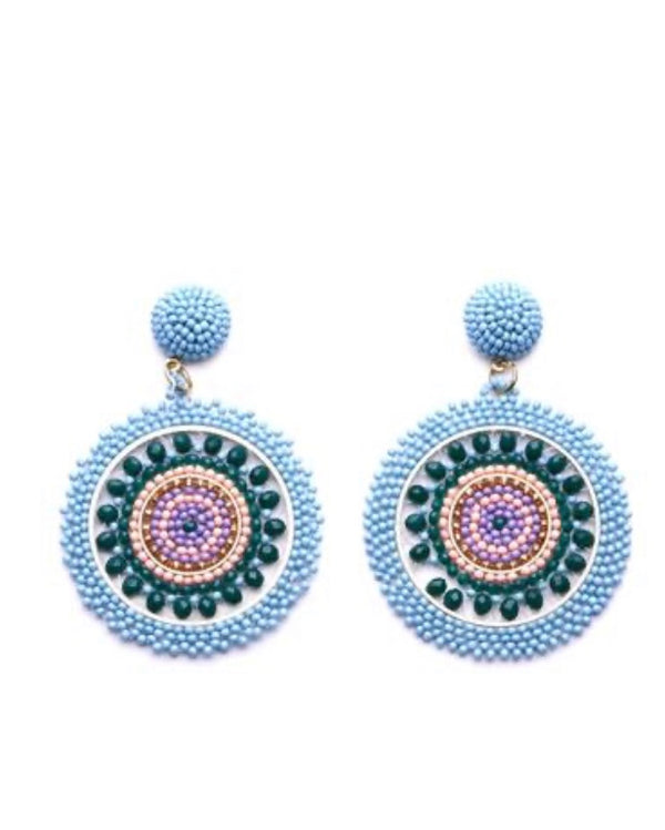 Blue/Green Beaded Earrings