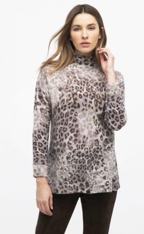 Leopard Funnel Sweater