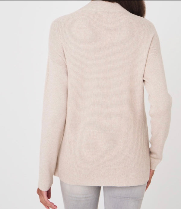 Cotton Blend V Neck Sweater