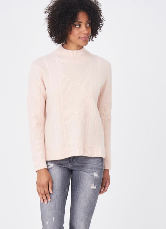 High Neck Textured Pullover