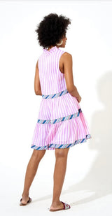 Yoke Dress in Playa Violet