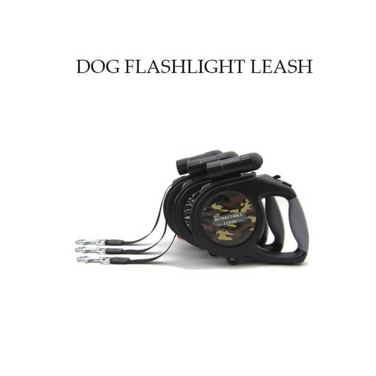 Dog Camouflage Traction Rope with Flashlight-8M