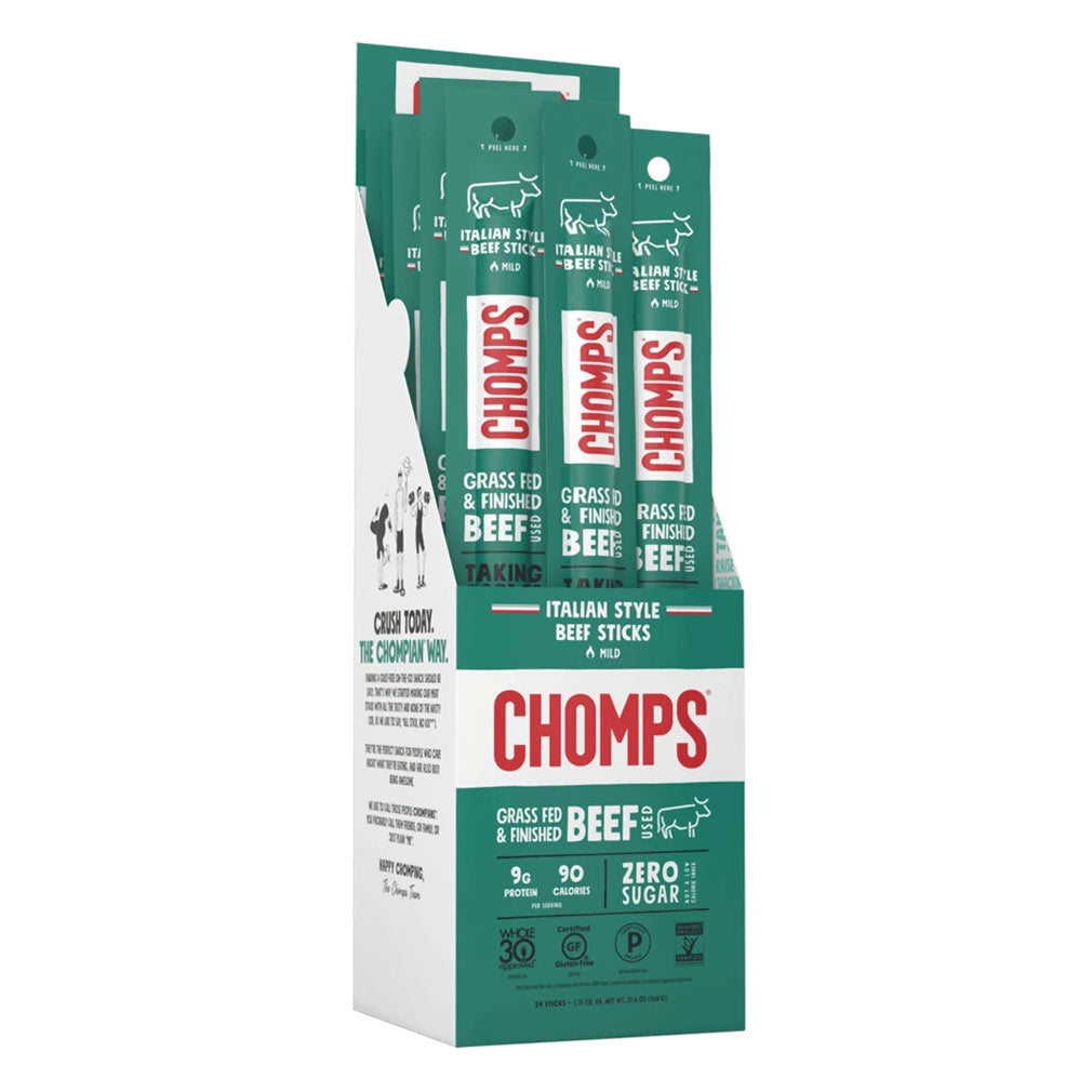 Chomps Italian Style Beef Box of 24