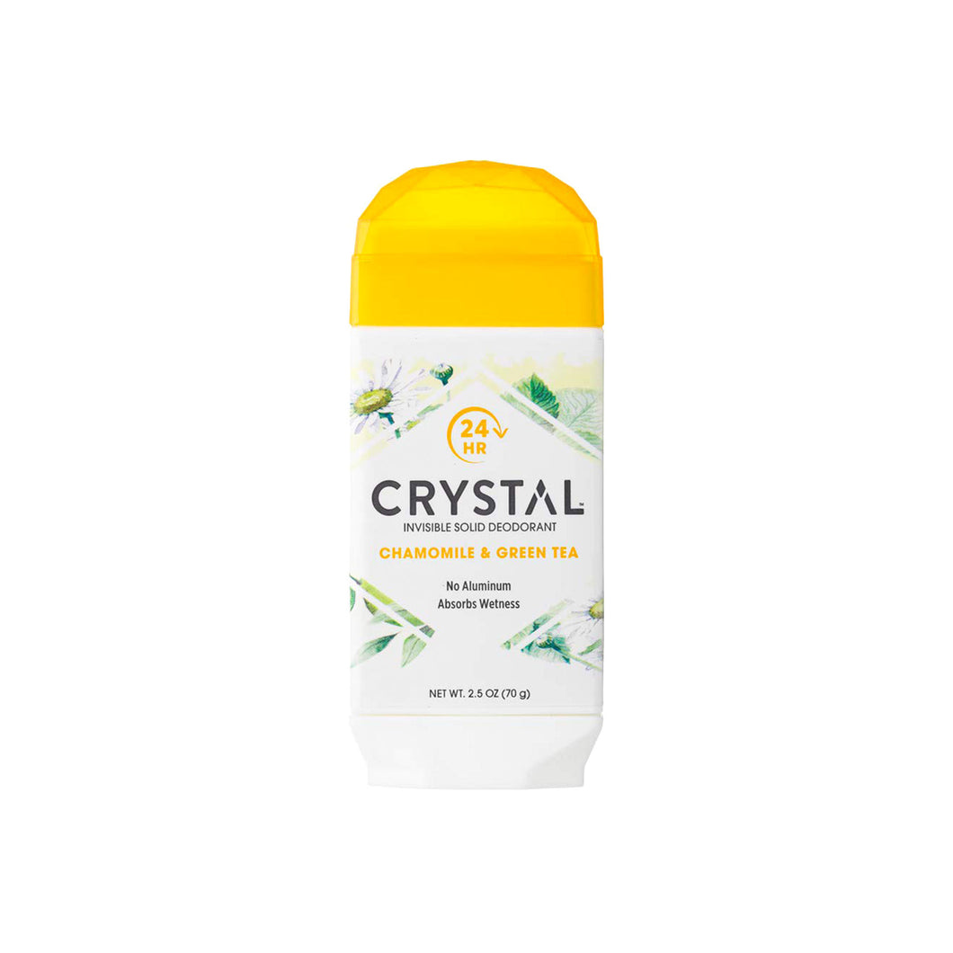Crystal Natural Deodorant Stick - Chamomile & Green Tea 2.5 oz.