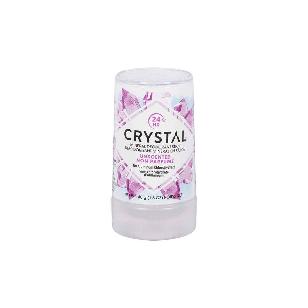Crystal Natural Travel Deodorant Stick - Unscented 1.5 oz.