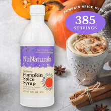 Load image into Gallery viewer, NuStevia Pumpkin Spice Syrup 16 oz
