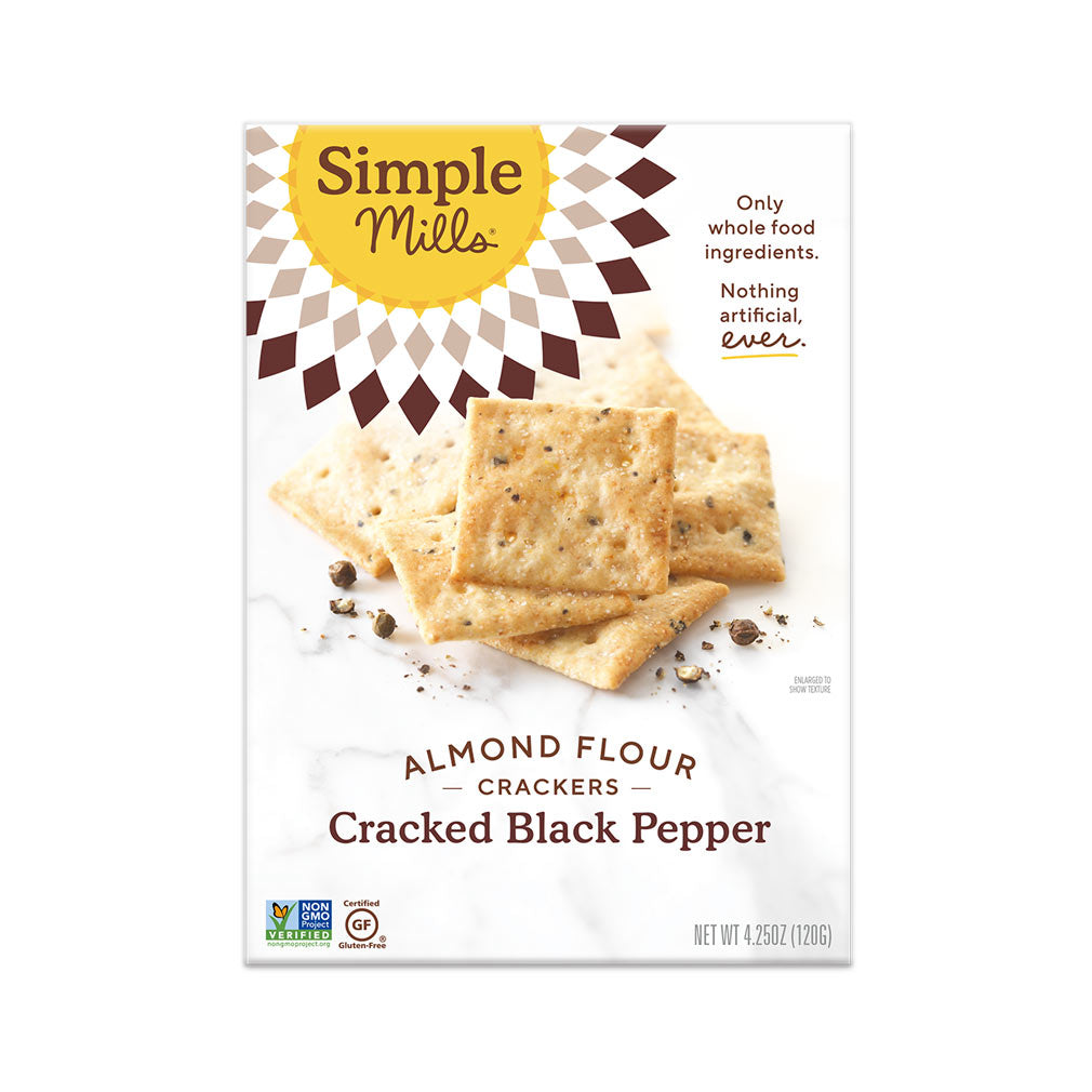 Simple Mills Cracked Black Pepper Crackers