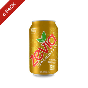 Zevia Cream Soda 6 Pack