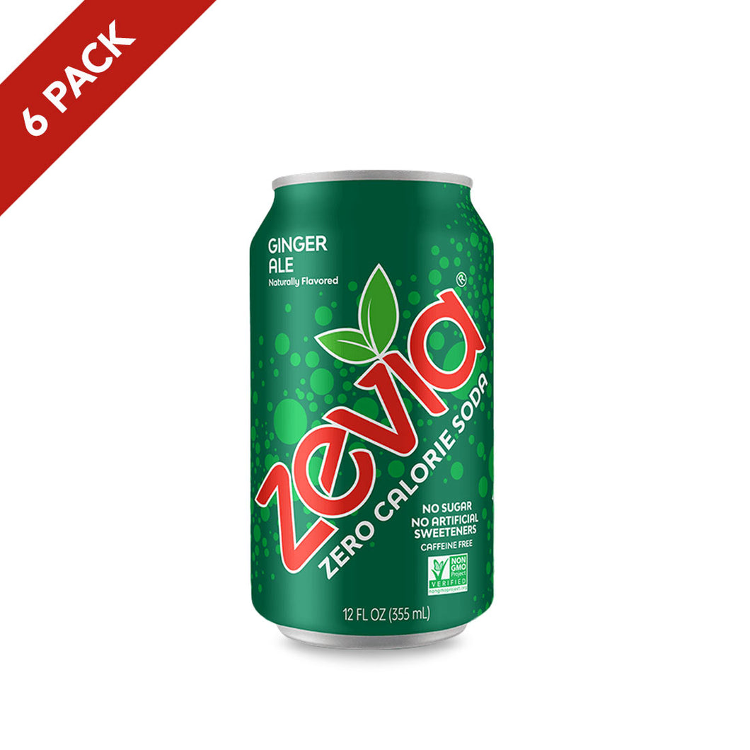 Zevia Ginger Ale 6 Pack