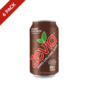 Zevia Ginger Root Beer 6 Pack