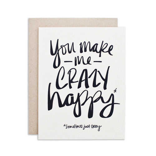 """CRAZY HAPPY"" CARD"