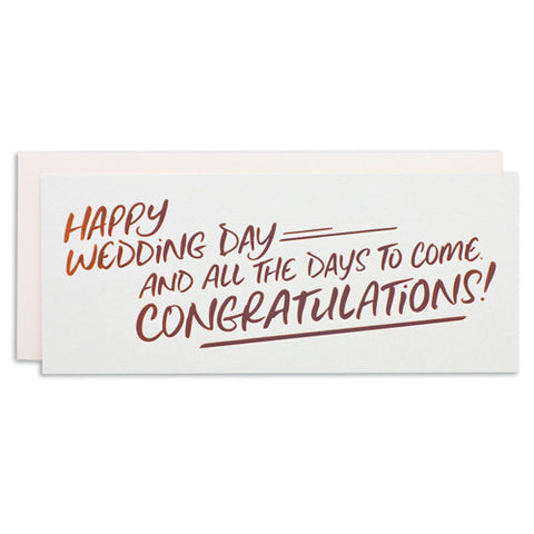 """HAPPY WEDDING DAY"" CARD"