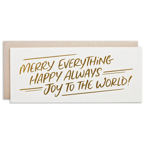 """MERRY EVERYTHING"" CARD"