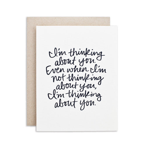 """THINKING ABOUT YOU"" CARD"
