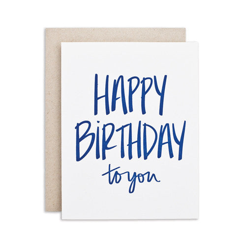 """HAPPY BIRTHDAY TO YOU"" CARD"