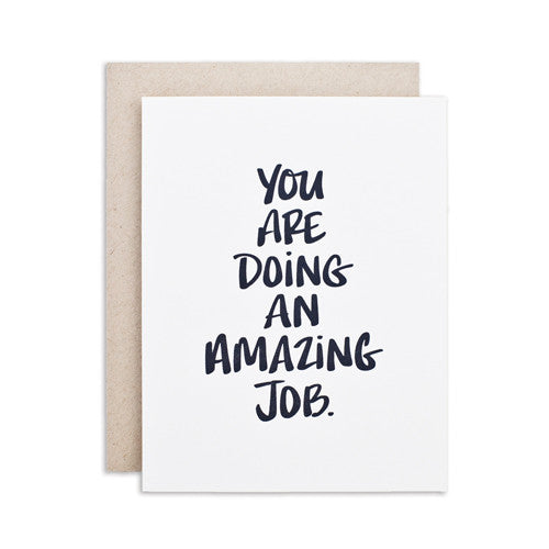 """AMAZING JOB"" CARD"
