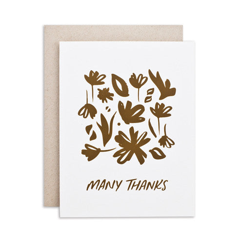 """MANY THANKS / FLORAL"" CARD"