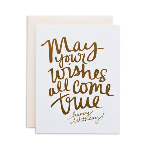 """WISHES ALL COME TRUE"" CARD"