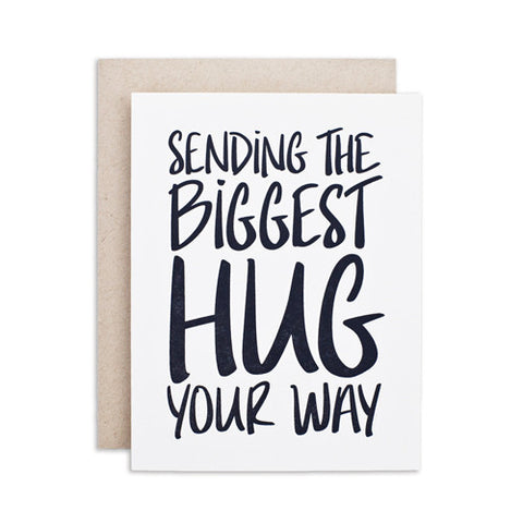 """BIGGEST HUG"" CARD"