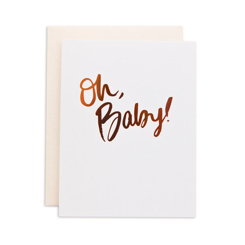 """OH BABY"" CARD"