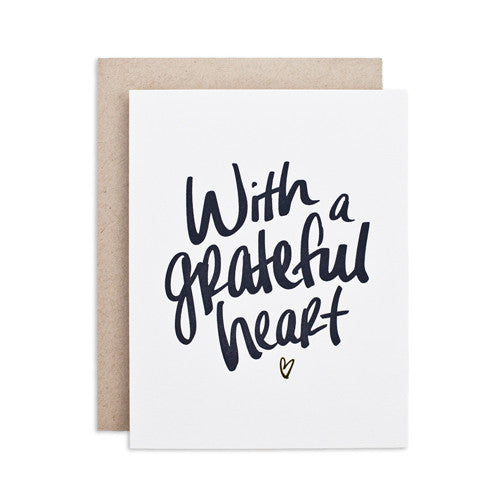 """GRATEFUL HEART"" CARD"