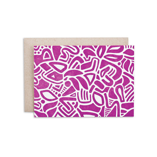 """MAUVE PATTERN"" CARD"