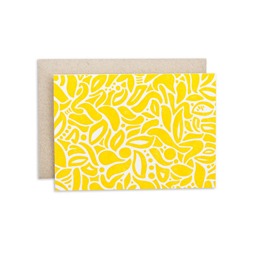 """YELLOW PATTERN"" CARD"