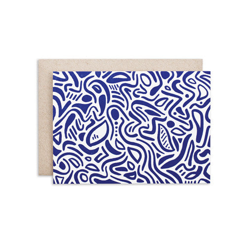 """DARK BLUE PATTERN"" CARD"