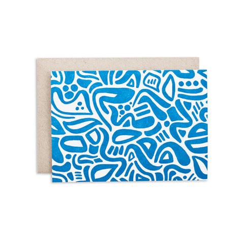 """OCEAN BLUE PATTERN"" CARD"
