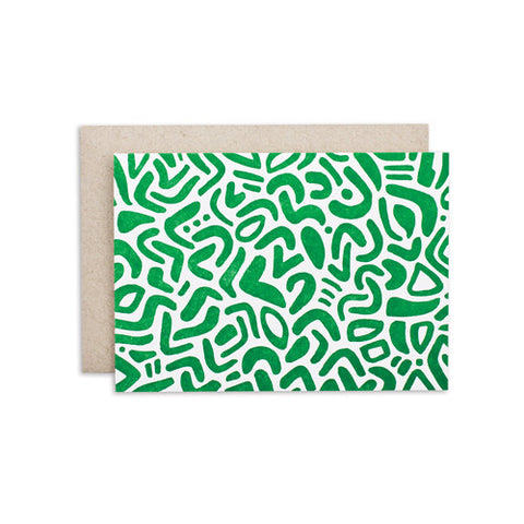 """GREEN PATTERN"" CARD"