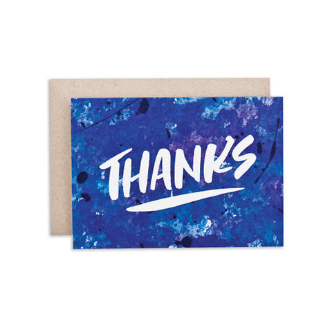 """THANKS / BKGRD"" CARD"